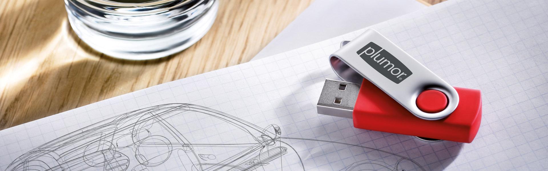 USB-Stick mit Logodruck als Werbeartikel